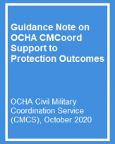 Guidance Note on OCHA CMCoord Support to Protection Outcomes