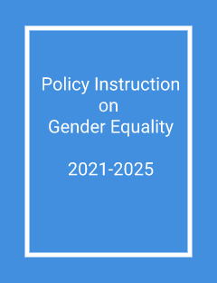 Policy Instruction on Gender Equality 2021-2025 cover