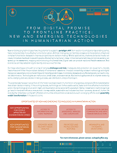 From Digital Promise to Frontline Practice: New and Emerging Technologies in Humanitarian Action 2 page report