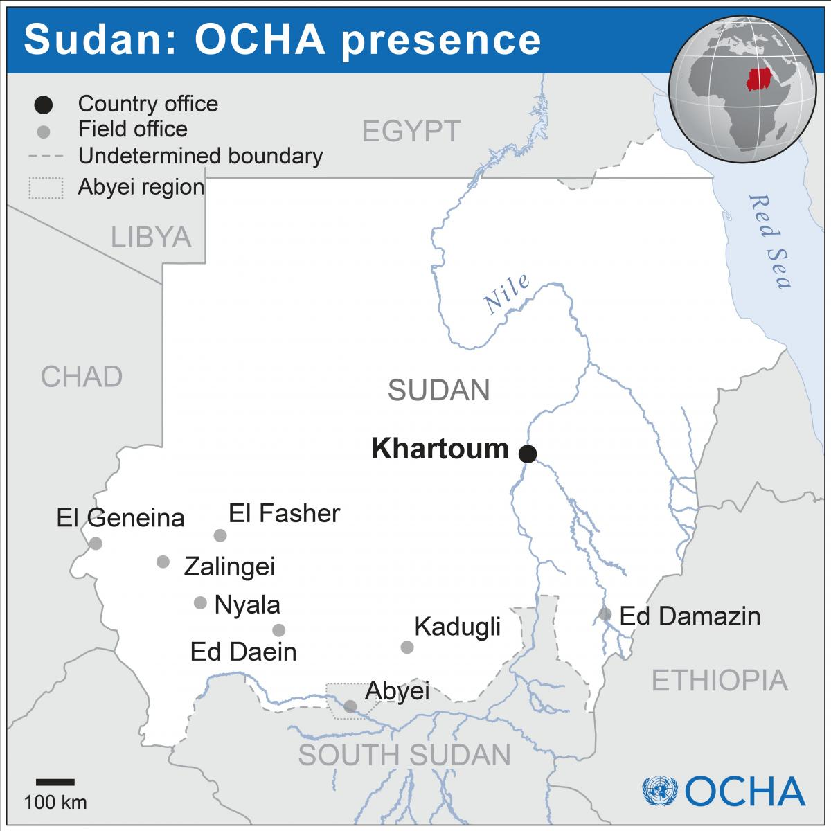 OCHA office locations