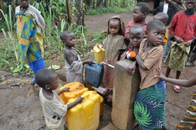South Kivu, DRC: Displaced children in Cifunzi. Credit: OCHA/ Charline Burton