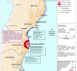 Japan: Situation Map (as of 16 Mar 2011). Credit: OCHA/ReliefWeb