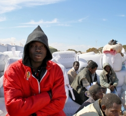 A migrant worker from Kumasi in Ghana at the Libya-Tunisia border. Credit: IRIN/Kate Thomas