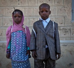 December 2013, Timbuktu: Two children on their way to school in Northern Mali. Credit: MINUSMA/Marco Dormino