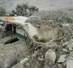 A house destroyed by flooding that hit Gilgit-Baltistan in 2010, destroying infrastructure and leaving many communities isolated for months. Photo: Shifa Foundation