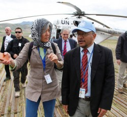"6 May 2014, Badakhshan, Afghanistan: ""This tragedy highlights the need for greater attention to the larger issue of the natural disasters that are so frequent in the northern part of the country,"" said Ms. Kang. ""More attention needs to be focused on greater preparedness and disaster risk reduction."" Credit: UNAMA/Fardin Waezi"