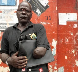 Edward Conteh, President of the Amputee and War-Wounded Association, founded in 2000 to represent the most vulnerable victims of the war. Amputees are still waiting for reparations almost 10 years on. Credit: IRIN/Felicity Thompson