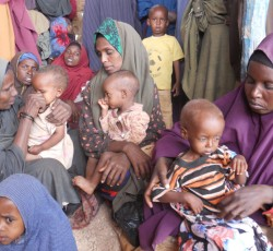 Women and children in Baidoa, southern Somalia. Credit: OCHA
