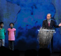 UN Secretary-General Ban Ki-moon opens the first-ever World Humanitarian Summit in Istanbul, Turkey. 23 May 2016. Credit: OCHA