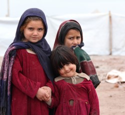Displaced children in Jalozai IDP camp in Khyber Pakhtunkhwa Province. Credit: OCHA Pakistan/Dan Teng'o