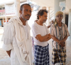 Nabil (left) has been living in this school in the port city of Aden in southern Yemen for the past year. He and his family fled fighting between the government and militants in Abyan in 2012. Credit: OCHA Yemen