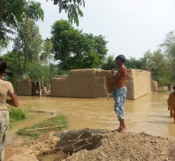 July 2013, Pubjab, Pakistan: A house destroyed by floods in Dera Ghazi Khan District in the centre of Pakistan. The first of Pakistan's annual monsoon floods have displaced more than 80,000 people across the country. Credit: OCHA/Samiullah Wali.