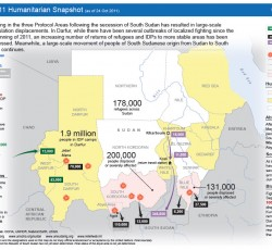 Sudan: Humanitarian Snapshot, 24 October 2011. Source: ReliefWeb
