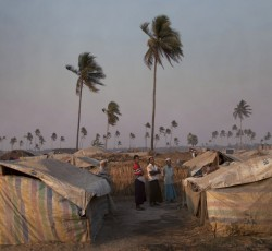 With Tropical Cyclone Mahasen expected to make landfall on 17 May, the UN is concerned about tens of thousands of people who were displaced by inter-communal violence in Myanmar's Rakhine State and who are now living in camps.  Credit: IRIN/Brendan Brady