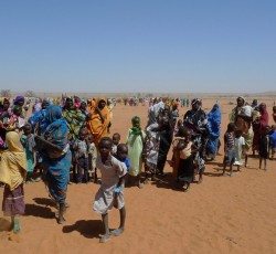 IDPs in Dereige camp, South Darfur, 17 March 2011. Credit: OCHA