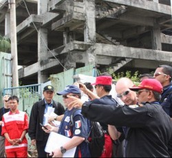 Participants in the earthquake simulation exercise held in Padang earlier this year. Credit: Jakarta Rescue
