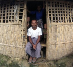 A displaced family living in a longhouse in Kyein Ni Pyin camp in Pauktaw, Rakhine State, Myanmar. Credit: OCHA/Pierre Peron