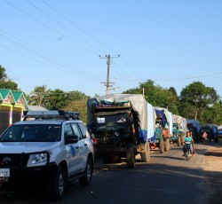 June 2013, Kachin State, Myanmar: A UN relief convoy has delivered assistance to communities cut-off by conflict in northern Myanmar's Kachin State. This is the first time in almost a year that UN agencies have been permitted to access areas outside Government control. Credit: OCHA