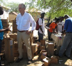 HC Nigel Fisher visits a Cholera Treatment Center in St Mark, 25 October 2010. Credit: MINUSTAH