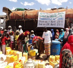 SDRO emergency water voucher project in Mudug region, funded by the CHF, April 2011. Credit: SDRO