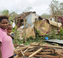 12 months on from Tropical Cyclone Pam, the country is still rebuilding. Credit: UNICEF/Dan McGarry
