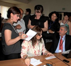 Simulation exercise during the Inter-Agency Contingency Planning workshop in Yerevan. Credit: MoES Armenia