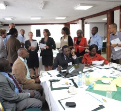 Simulation exercise in Nairobi. Credit: UNICEF/Minu Limbu