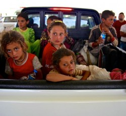 August 2014, Dahuk, Iraq: These people escaped Sinjar Mountain, making their way the Iraq's Kurdish region where authorities and aid groups are scaling-up their response efforts. Credit: UNICEF/Wathiq Khuzaie