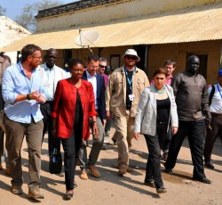 28 Jan 2014, Upper Nile State, South Sudan: UN Humanitarian Chief Valerie Amos has ended her three day visit to strife-torn South Sudan by highlighting the dire humanitarian situation affected hundreds of thousands of people across the country. Credit: OCHA