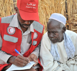 Darfur, Sudan: The role of local aid groups - including the Sudanese Red Crescent - is increasingly important in Sudan, especially in places like Darfur where international organizations are safe face constraints. Credit: SRCS