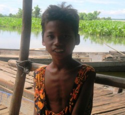 Svet Yen, 12 years, and his family have been displaced from their home in Kampong Chhnang Province in central Cambodia.