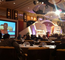 UN Under-Secretary-General for Humanitarian Affairs Valerie Amos addresses the International Conference on the HOPEFOR Initiative on 29 November 2011 in Doha, Qatar. Credit: IRIN