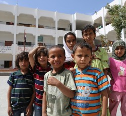 School in Sana'a hosting some 200 displaced people, mostly from Saada governorate. Credit: OCHA/Charlotte Cans, June 2015