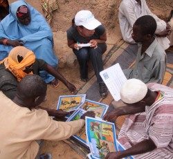 Aid workers conducting cholera awareness campaigns in Niger. Credit: UNICEF Niger