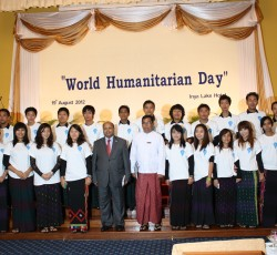 World Humanitarian Day celebrations in Myanmar. Credit: OCHA