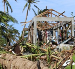 8 November 2013, Kayangel, Palau: Super Typhoon Haiyan swept across Palau during the early hours of 7 November. Its centre passed about 15 km north of Kayangel, the northernmost state of the archipelago. Credit: Office of the President, Republic of Palau