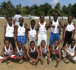 A team of child runners at the Leogane meeting. Credit: OCHA