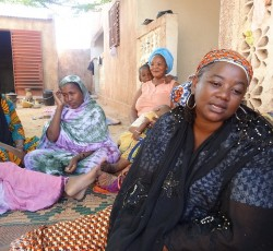 "Mariam, mother of eight, has not been able to find a job. ""We cannot always pay the rent,"" she says hoping to return to her hometown in northern Mali. Credit: OCHA/Ulrike Dassler"