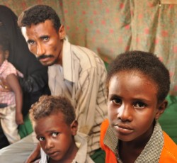 About 13,000 displaced people are still living in the two camps in Al-Mazraq, nearly a decade after the conflict in northern Yemen began. Credit: OCHA