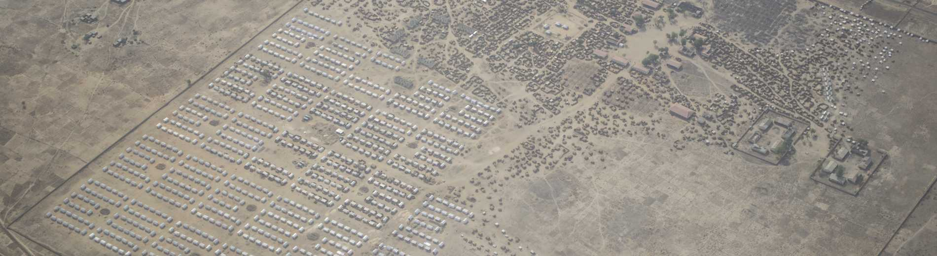 View of 500 NHF-funded shelters in Mafa, Borno State.